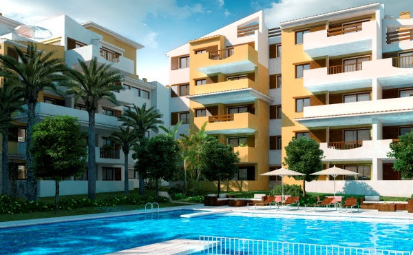 New 2 and 3 bedroom beach apartments Punta Prima, Torrevieja, Alicante, Costa Blanca