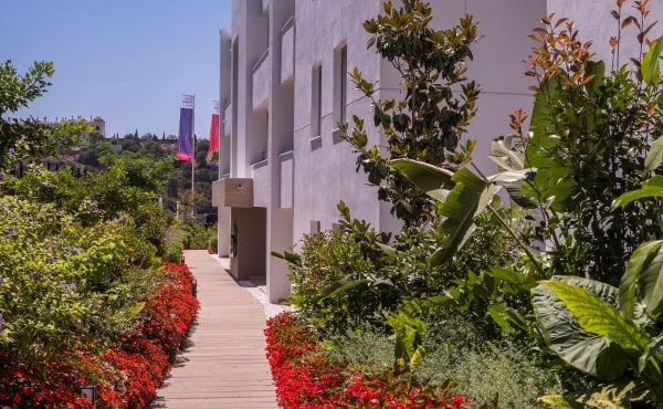 Green corridors and vertical gardens at Botanic enrich the holiday experience