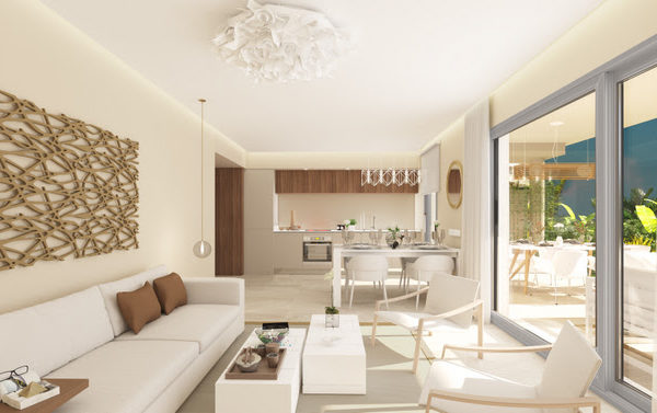 Homes to benefit from south-facing terraces, panoramic views and 'total living' concept