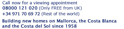 Building new homes on Mallorca, the Costa Blanca and the Costa del Sol since 1958