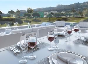 Horizon Golf: Terrace with golf views