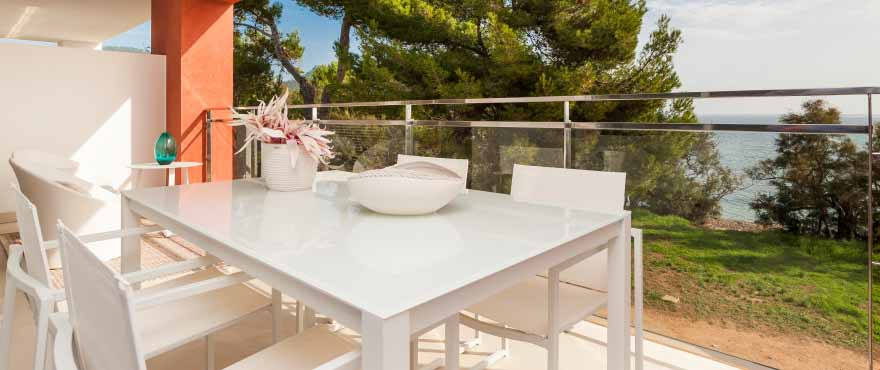 Terrace with sea views, Costa Beach