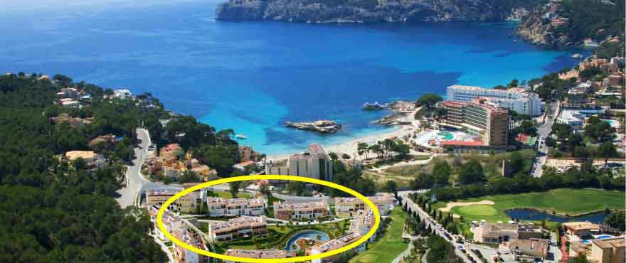 Rekkehus til salgs i Spania: Camp de Mar, rekkehus i hjertet av Golf Andratx, fire store hus med god distribusjon, Taylor Wimpey er garanti for kvalit