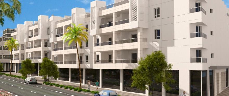 Nieuwe dakappartementen, lokalen en garages te koop aan de zee: Arqueros Beach