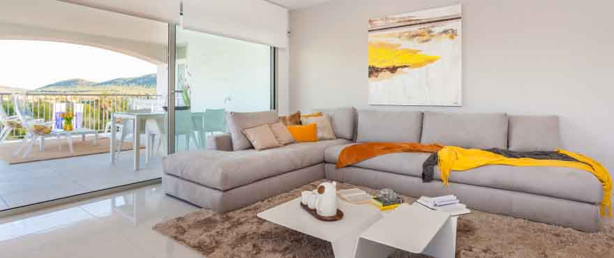 Living room in apartments for sale, Santa Ponsa, Mallorca