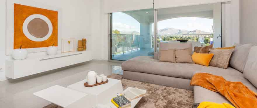 Spacious and light living room, Santa Ponsa, Mallorca