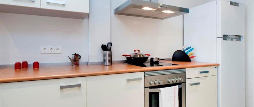Amplia cocina americana en piso en venta en Edifici Alber