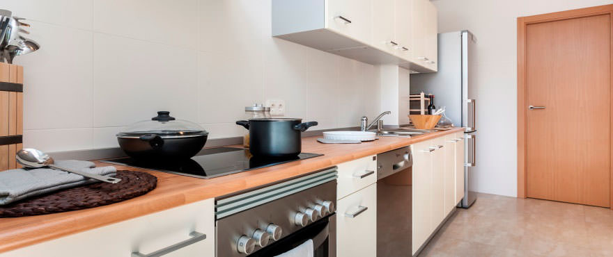 Luminous open kitchen in flats for sale in Mallorca