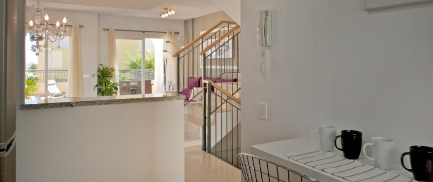 Kitchen, Townhouses for sale, townhouses in Calpe, Costa Blanca, 3 bedrooms, private garden, communal swimming pool and gardens