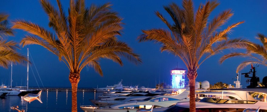 Hamnen kvällstid, Santa Ponsa, Mallorca