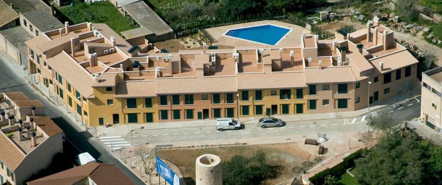 Aerial view of Sa Torre complex in Portol, Mallorca