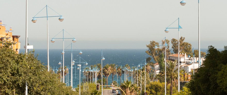 Sea views from road leading towards the beach next to Los Arqueros Beach complex