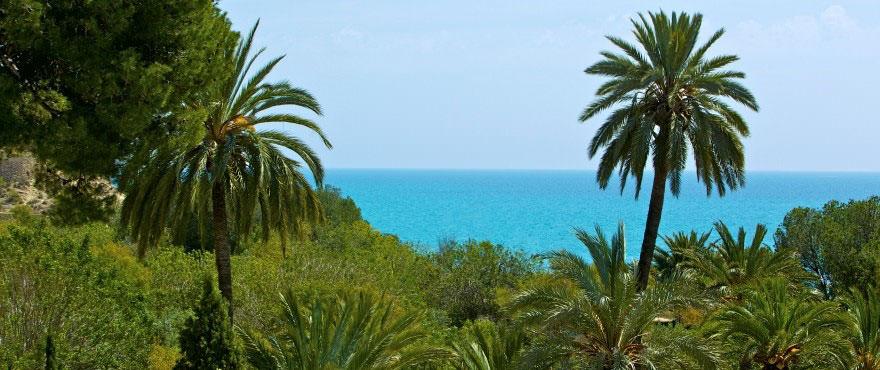 Uitzicht op zee vanaf het terras van appartement in La Vila Paradis - Taylor Wimpey Spanje