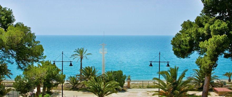 Havsutsikt från terrassen i lägenheter La Vila Paradis - Taylor Wimpey Spanien