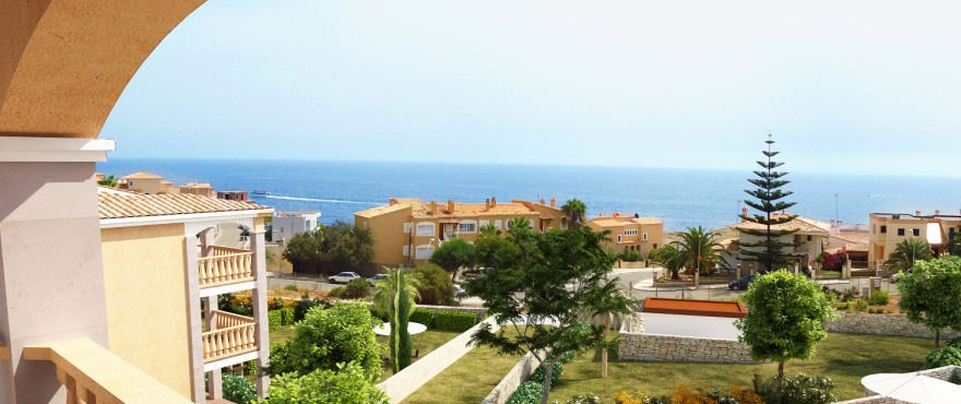 Sea views from apartment for sale in Porto Cristo, Mallorca