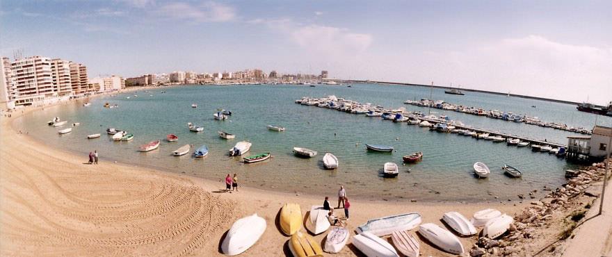 Strand, Omgivningar, Torrevieja, Costa Blanca, Spanien