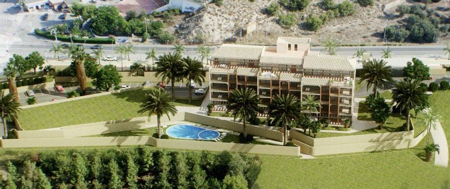 Playa Paraíso - La Vila Paradís apartamentos: piscina y jardín comunitario