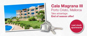 apartment offer, Cala Magrana