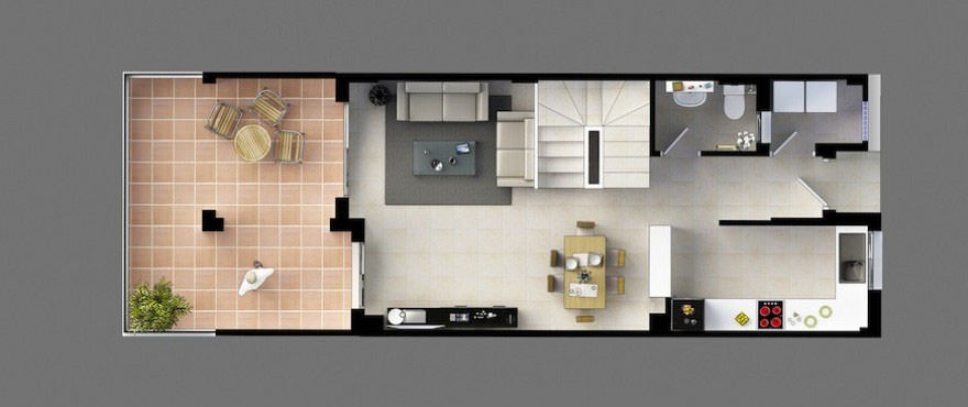 Floor plan, first floor, Montesol