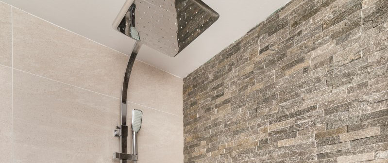 Modern shower in the apartments of Taylor Wimpey Spain