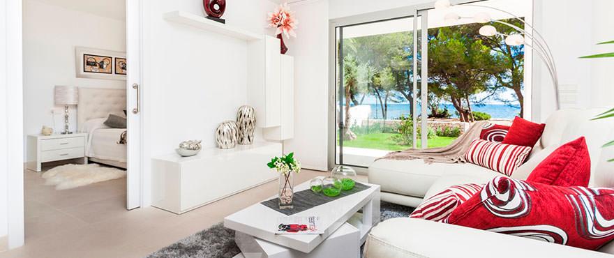 Lichte en ruime woonkamer met een modern ontwerp, Costa Beach, Mallorca