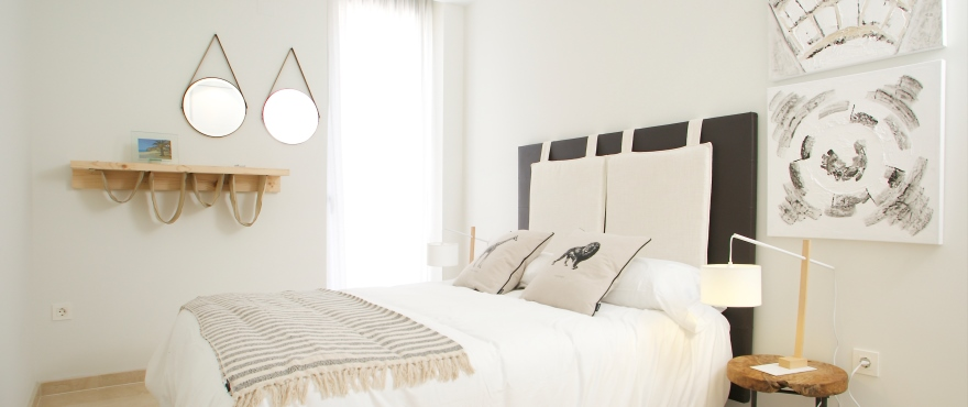 Lägenheter till salu, lägenheter i Villajoyosa, Costa Blanca 2 och 3 sovrum, gemensam trädgård och pool
