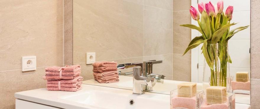 Badkamer met kwaliteitsafwerking in Majorca