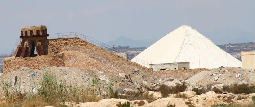 Zoutmijnen, in de omgeving, dichtbij de woningen van La Recoleta