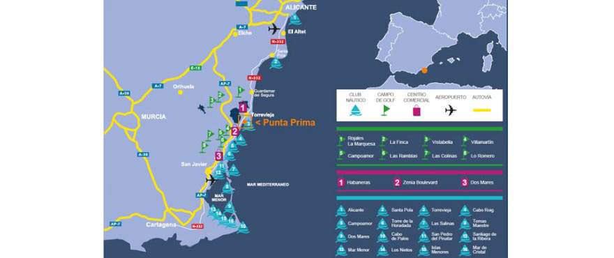 Map of La Recoleta III, Punta Prima