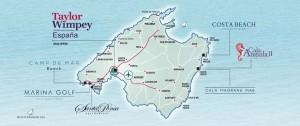 Taylor Wimpey Spanien: Landkarte mit Wohnungen im Verkauf in Mallorca