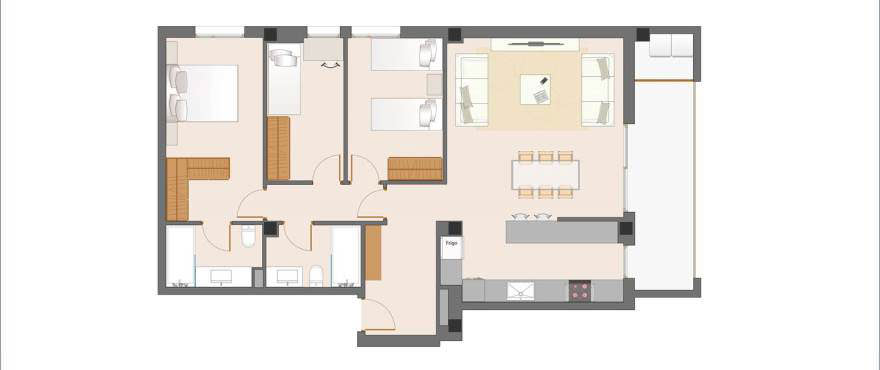 Ibiza piso plano