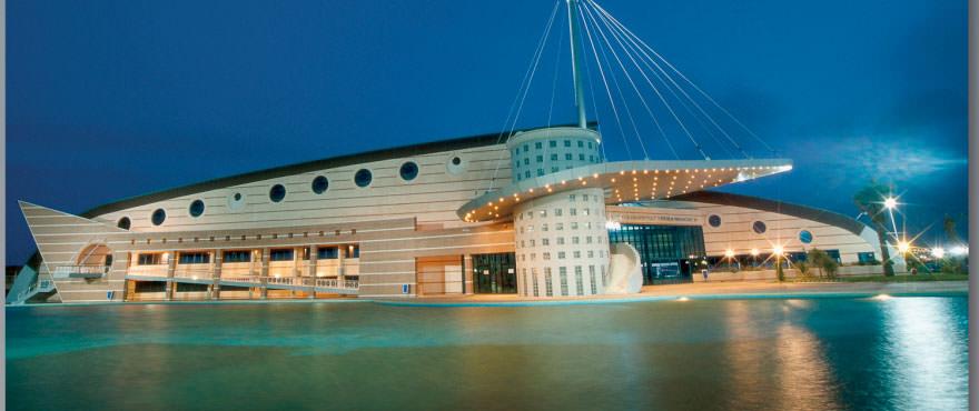 Palazzetto dello sport nei dintorni de La Recoleta, Torrevieja. Alicante, Costa Blanca