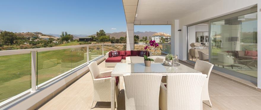 Terraza y jardines comunitarios, Miraval, Mijas