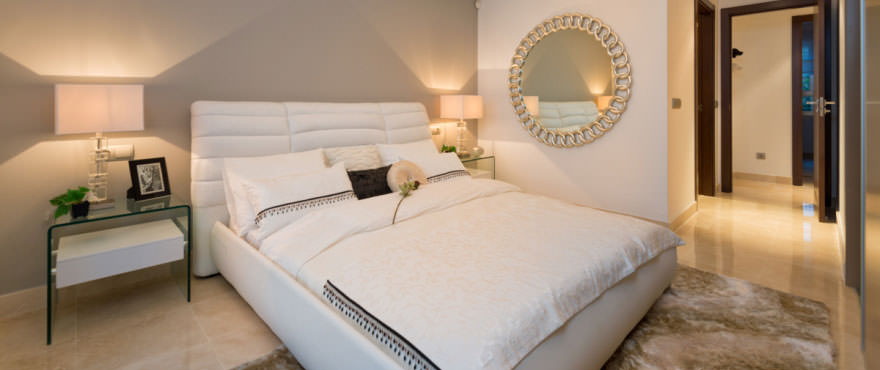 Light and luxurious bedroom of Miraval, Mijas, Costa del Sol