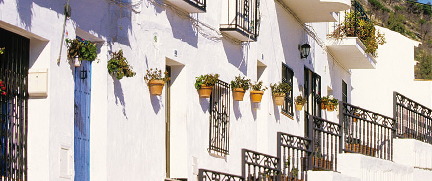 Mediterranean village with beautiful white houses, Mijas