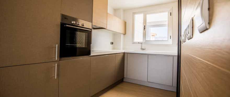 Hochwertige Ausstattung, Küchen in den Apartments in Mijas