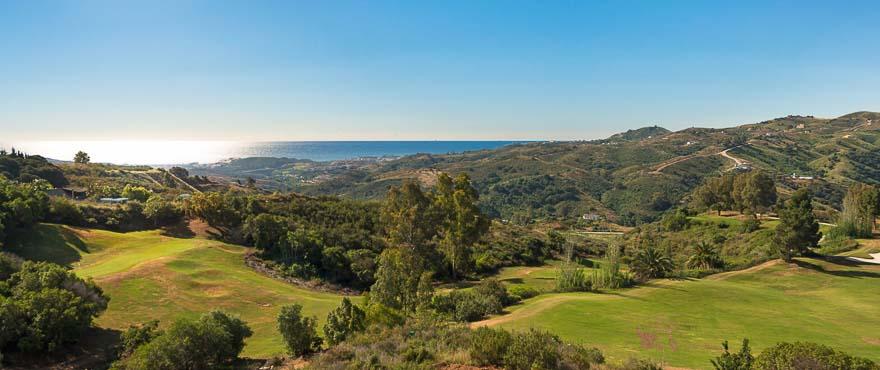 Uitzichten op de golfbaan van Mijas