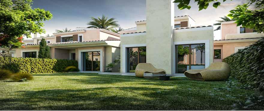 Reihenhäuser mit direktem Zugang zum Golfplatz in Santa Ponsa