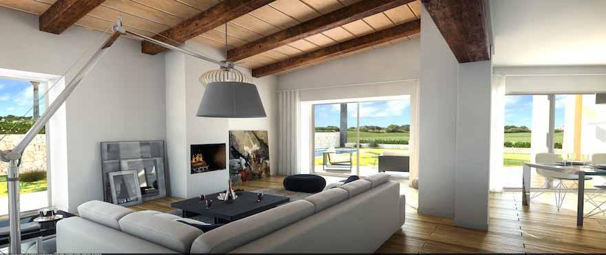 Modern gestaltetes, lichtdurchflutetes Esszimmer, Wohnanlage Marina Golf