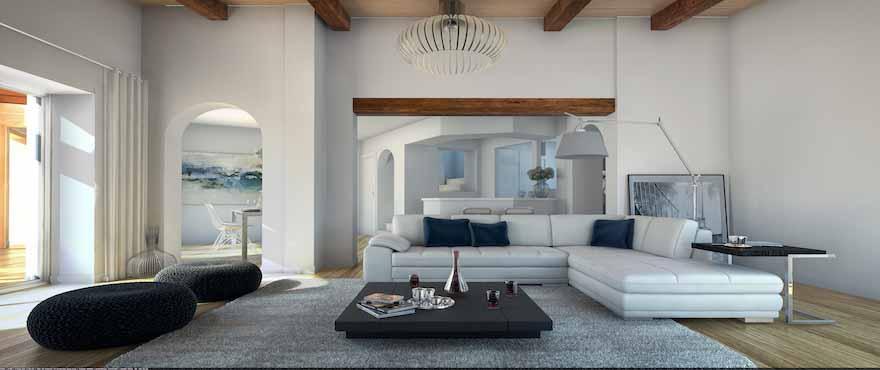 Luminous Living Room, Marina Golf, Santa Ponsa, Mallorca