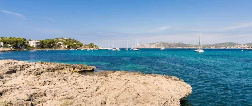 The beautiful coastline of south western Mallorca.