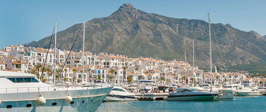 Beautiful harbours in Marbella