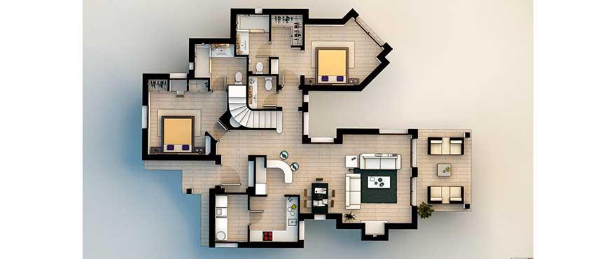 Grundriss der 1. Etage