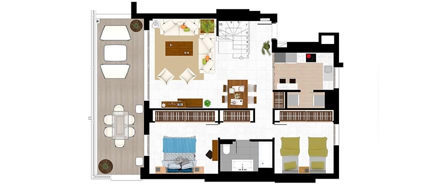 appartements de 3 chambres - Duplex