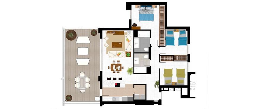 appartements de 3 chambres