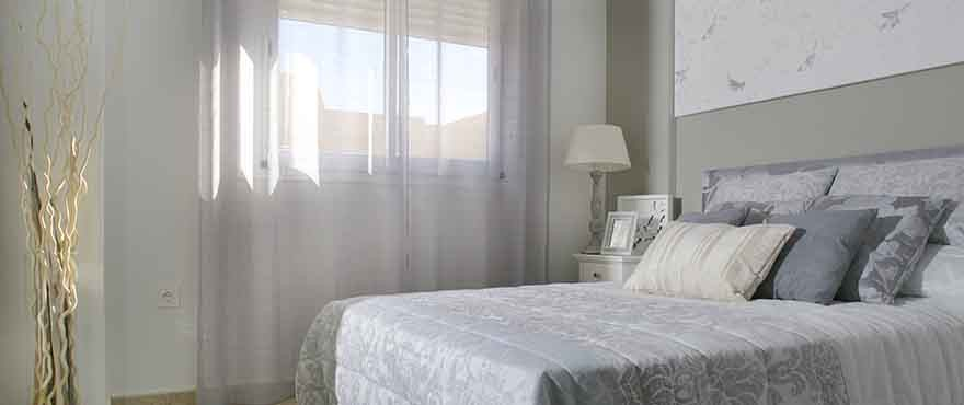 Bedroom, Townhouses for sale, townhouses in Calpe, Costa Blanca, 3 bedrooms, private garden, communal swimming pool and gardens