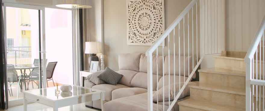 New houses for sale in Calpe, Taylor Wimpey's private residential Montesol: Living room