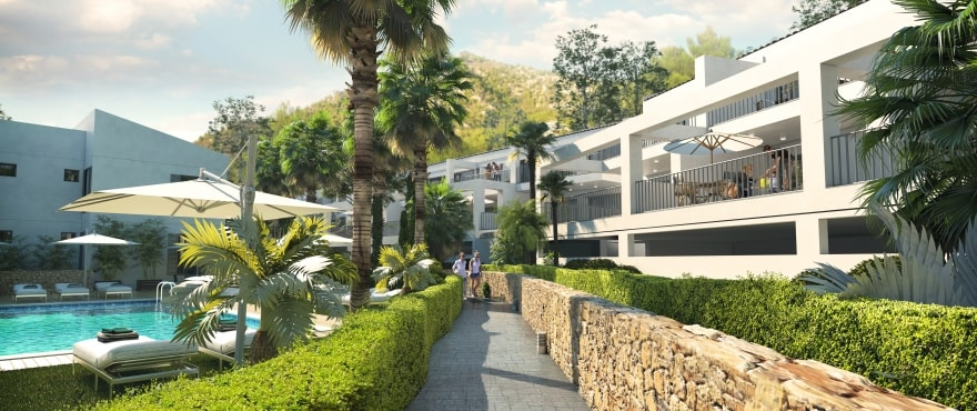 Canyamel Pins, new apartments with communal gardens for sale in Majorca