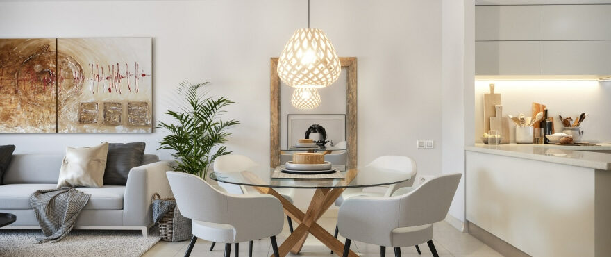 Salón luminoso en el nuevo residencial Canyamel