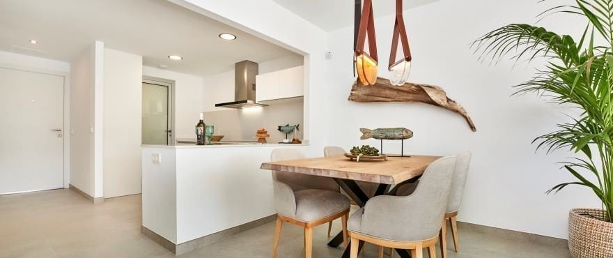Modern kitchen at the new development Canyamel Pins